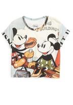 Little Eleven Paris Girl's Little Elevenparis Mickey Mouse Crop Tee