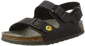 Birkenstock Unisex Adults' Milano Birko-Flor ESD Ankle Strap Sandals, Black (Schwarz 79), 4.5 UK