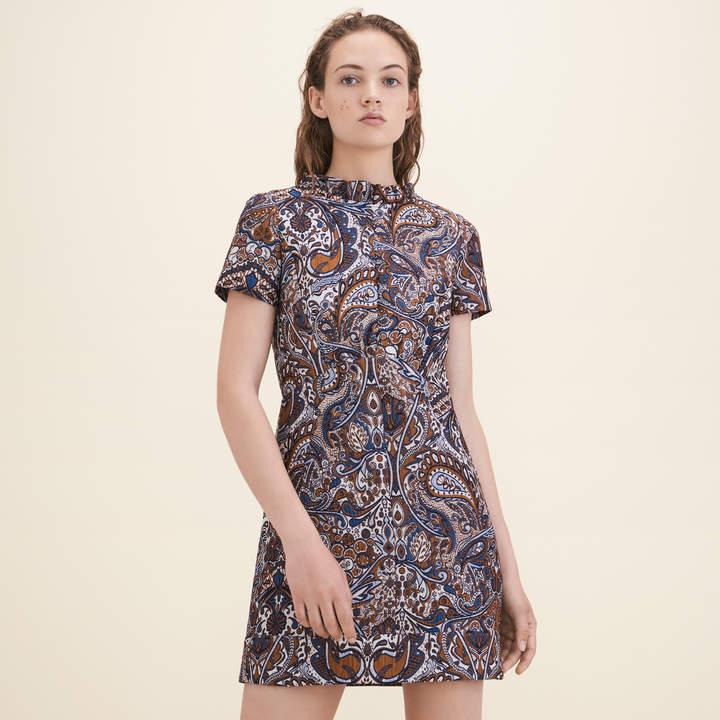 Maje Jacquard straight-cut dress