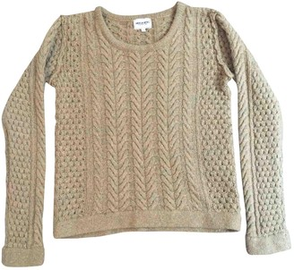 American Retro Yellow Wool Knitwear for Women