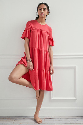 Sundry Rosanne Tiered Midi Dress By in Pink Size XS