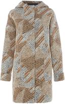 White Stuff Ribble Hooded Long Sleeve Coat, Multi