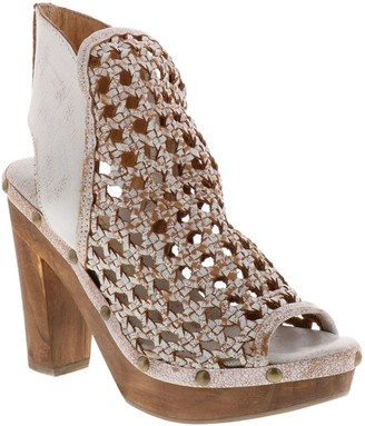 Sbicca Leather Woven Platform Sandals - Kaycee