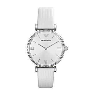 Emporio Armani Women's Stainless Steel Quartz Watch with Leather-Lizard Strap