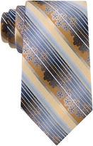 Van Heusen Floral Stripe Silk Tie - Extra Long