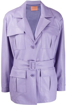 Andamane Cher faux-leather fringed jacket