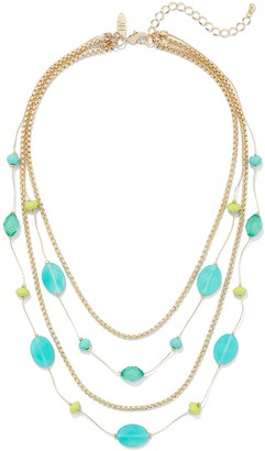 New York & Co. Beaded Illusion Necklace
