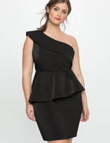 Plus Size One Shoulder Black Dress - ShopStyle