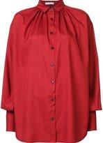 Tome poplin gathered shirt