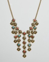 Ruby Rocks Statement Drop Detail Necklace