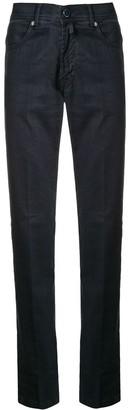Kiton High-Rise Slim Jeans