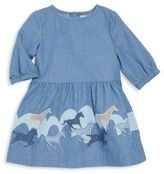 Stella McCartney Little Girl's Horse Embroidered Dress