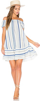 Eight Sixty Off Shoulder Stripe Dress in Blue. - size M (also in )