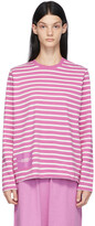 Thumbnail for your product : Marc Jacobs Purple 'The Striped' Long Sleeve T-Shirt