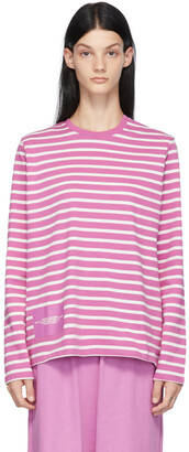 Marc Jacobs Purple 'The Striped' Long Sleeve T-Shirt