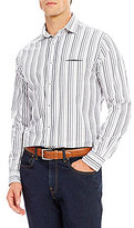 Daniel Cremieux Grandeur Nights Collection Long-Sleeve Slim-Fit Stripe Woven Shirt