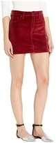 Hudson Jeans Viper Velvet Mini Skirt in Oxblood (Oxblood) Women's Skirt