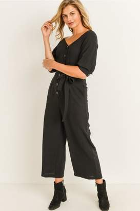Elegance By Sarah Ruhs Button Front Jumpsuit