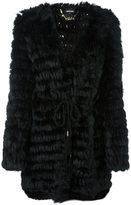 Just Cavalli V-neck mid-length coat