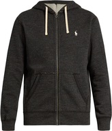 Polo Ralph Lauren Zip-up cotton-blend hooded sweatshirt