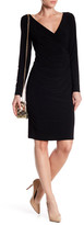Marina Surplice Long Sleeve Dress