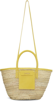 Jacquemus Beige and Yellow Le Panier Soleil Tote