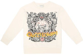 Gucci Kids Printed cotton sweatshirt