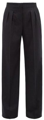 Max Mara Cinque Trousers - Womens - Dark Grey