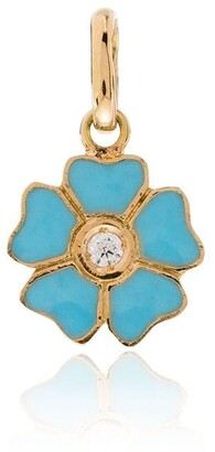 Gigi Clozeau 18kt Yellow Gold Diamond-Embellished Flower Charm