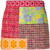 Moschino patchwork tweed skirt - women - Silk/Cotton/Acrylic/Viscose - 36