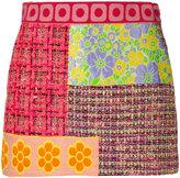 Moschino patchwork tweed skirt