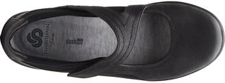 Clarks Sillian Bella Leather Flat Shoe - Black