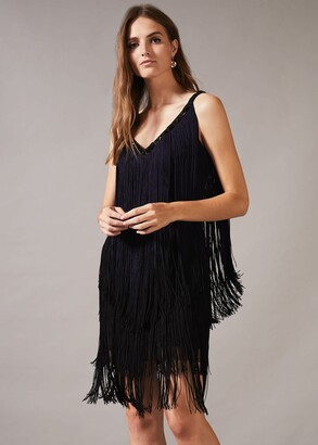 Phase Eight Missy Dip Dye Fringe Dress
