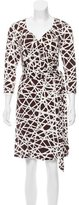 David Meister Printed Wrap Dress