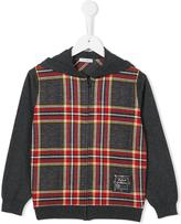 Dolce & Gabbana plaid hoodie - kids - Cotton - 4 yrs