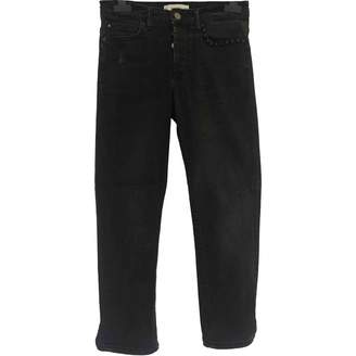 MANGO Black Cotton Jeans for Women