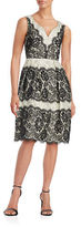 Ivanka Trump Lace Fit-and-Flare Dress