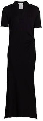 Helmut Lang Retro Rib Polo Maxi Dress