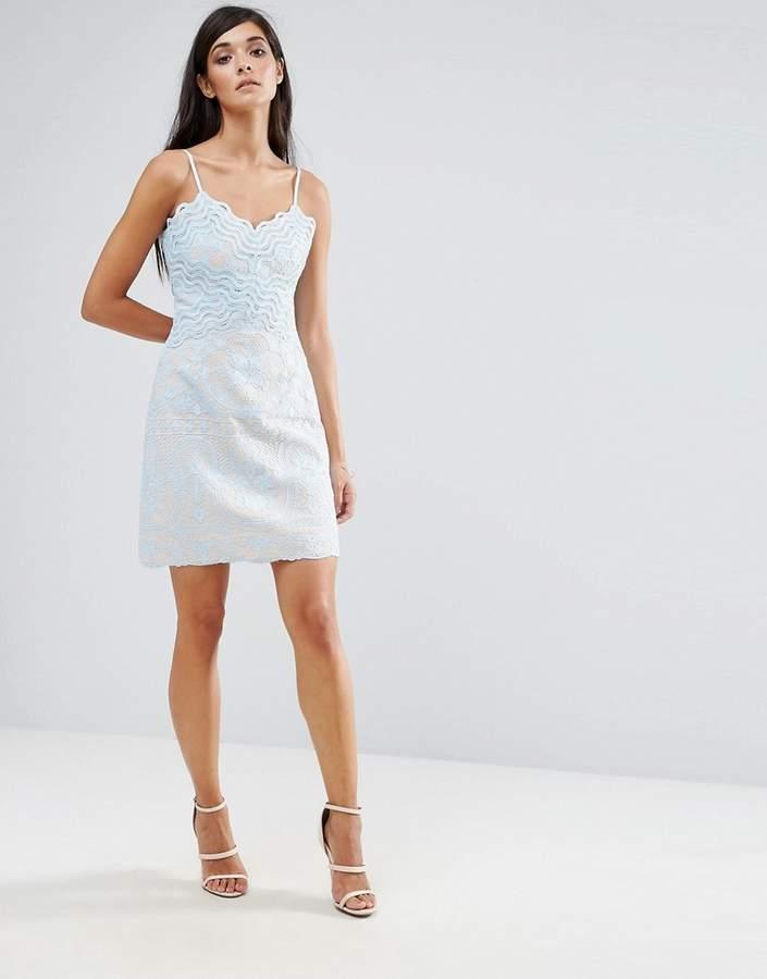 Aijek Lace Wiggle Mini Dress