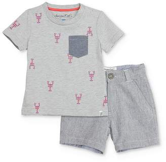 Sovereign Code Boys' Lobster Tee & Shorts Set - Baby