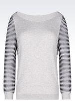 Emporio Armani Sweater In Cotton Blend