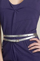Metallic Studded Wrap Belt