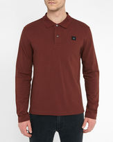 Acne Studios Burgundy Kolby Long-Sleeve Piqué Polo Shirt