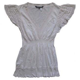 BCBGMAXAZRIA Ecru Silk Top for Women