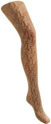 Fendi embroidered FF logo tights