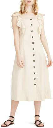 Madewell Princess Seamed Midi Dress