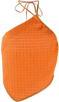 Nanushka Textured Halter Top