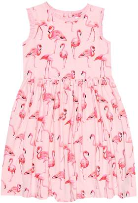 Rachel Riley Flamingo cotton-blend jersey dress