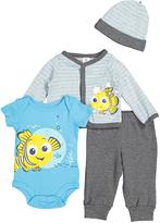 Children's Apparel Network Gray Finding Nemo Bodysuit & Pant Set - Infant