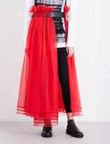 Noir Kei Ninomiya Gathered tulle midi skirt